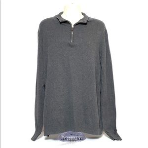 Foundry Vintage Men's Grey Crew Neck Knit Sweater
